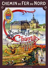 Affiche chemin de fer Nord - Chantilly