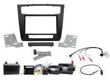 BMW 1-SERIES 2007-2013 E81/82/87/88 DOUBLE DIN BLACK FASCIA SWC FITTING KIT