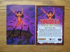 2011 BREYGENT VAMPIRELLA BEST OF JUSKO CARD # VJ-3 SIGNED JOE JUSKO ART,WITH POA