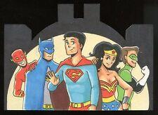 2016 DC Comics Justice League Die-Cut Sketch - John Monserrat