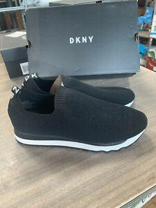 Women's DKNY Jerri Slip On Knit Casual Black Sneakers Pick Size
