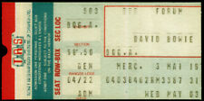 DAVID BOWIE REPRO 3 MAY 1978 FORUM MONTREAL CANADA CONCERT TICKET