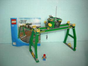 LEGO City Eisenbahn #7939 - Portalkran, Krananlage mit Bauanleitung !!!