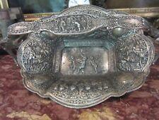 Antique Victorian Repousse Derby S P Co Brides Silver Plate Basket