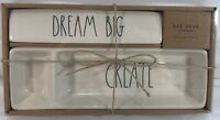 Rae Dunn By Magenta Ceramic DREAM BIG & CREATE Desk Accessories Plaque & Tray