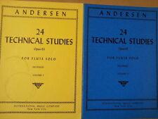 flute ANDERSEN 24 Technical Studies Vol 1 + 2, Wummer, IMP