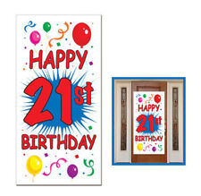 HAPPY 21st BIRTHDAY party SCENE SETTER wall/door cover poster decoration age 21