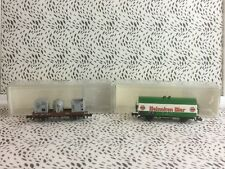 Minitrix N Gauge ''Down Board/Beer Wagons'' No's 8565 & 8223 USC RD8331