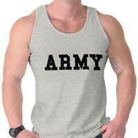 Military Army United States America Patriotic Adult Tank Top T-Shirt Tees Tshirt