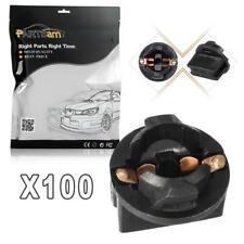 100x Twist Lock T10 168 194 Wedge Instrument Panel Dash Light Bulb Socket