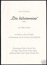 Konzertprogramm, Kammersänger Herbert Rössler, Kulturhaus Berlin Karow, 1972