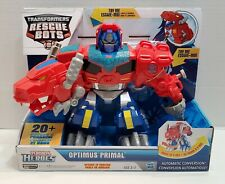 Playskool Heroes Transformers Rescue Bots - Optimus Primal - Speaks T Rex NEW
