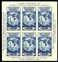 US Scott #735 Byrd Antarctic Expedition Farley Souvenir Sheet MNH