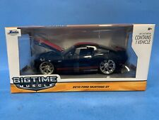 Jada Big Time Muscle 1:24 Diecast Black w/ Red Stripes 2010 Ford Mustang GT *ST