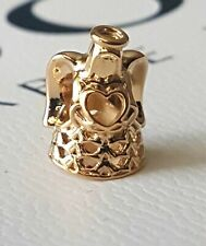Authentic Pandora Solid 14ct 14k Gold Angel of Grace Charm 750999