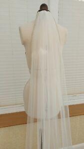 1T pearl edging  wedding Veil