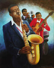 """THE MUSICIANS POSTER BY ARTIST ROMEO DOWNER - LARGE 24"""" X 36"""" POSTER - NEW"""
