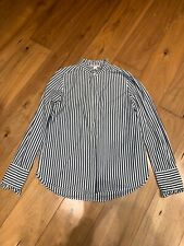 H&M black and white stripe shirt Victorian size 10 worn twice