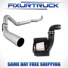 "MBRP 4"" Exhaust For 06-07 Duramax 6.6L W/ S&B Cold Air Intake Kit Dry"