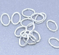 500 Silver Plated 5.5 x 4mm Oval Open Jump Rings 22 Gauge 0.7mm Jewelry Findings