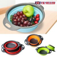 Silicone Collapsible Colander Food Fruit Vegetable Draining Strainer Spacer RO