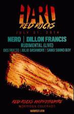 NERO DILLON FRANCIS RED ROCKS 2014 COLORADO CONCERT POSTER