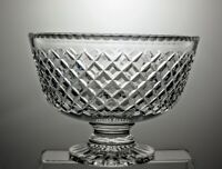 "LARGE STUART CRYSTAL CUT GLASS  FOOTED FRUIT BOWL CENTERPIECE - 9 3/4""DIAMETER"