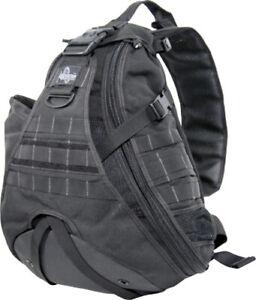 Maxpedition Monsoon GearSlinger 0410B Black. Large size single shoulder pack wit