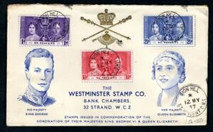 St Vincent - 1937 KGVI Coronation Illustrated First Day Cover