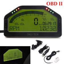 Car Dash Race Display OBD2 Bluetooth Dashboard LCD Screen Digital Gauge Kit New