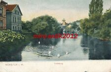 AK, Grafik, Münster - Blick a.d. Tuckesburg vom Wasser, 1911; 5026-94