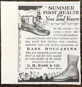 1931 GH Bass & Co Wilton Maine PRINT AD Summer Foot Health For You and Yours