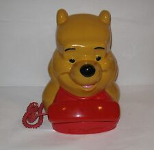 Vintage Disney Winnie The Pooh Push Button Corded Telephone Phone Free Ship