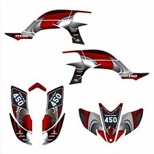 Yamaha YFZ 450 graphics Decal kit 2003 2004 2005 2006 2007 2008 #3737-Red