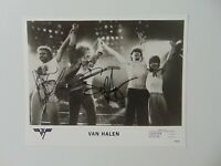 """Van Halen"" Sammy Hagar & Michael Anthony Signed 10X8 B&W Photo Todd Mueller COA"