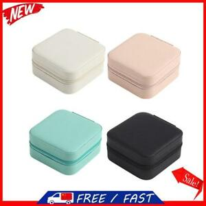 Portable Jewelry Storage Box Travel Earrings Necklace Ring Display Case S1