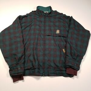 Zero Restriction Men Size XL Gore-Tex Plaid Full Zip Golf Outerwear Green Jacket