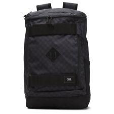 Vans HOOKS SKATEPACK - Black Charcoal (NEW) Backpack Bag : SKATE STRAPS Checkers