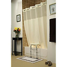 "Split Shower Curtain for All Tub Transfer Benches - Hookless - 71"" x 72"" - Beige"