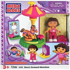 Mega Bloks Dora's Carousel Adventure 3066 NEW IN BOX