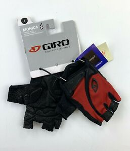 Giro Monica Women's Cycling Gloves Black / Red Size Small New