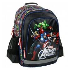 Marvel Avengers Backpack School Bag Gym Travel Shoulder Boys Assemble Black