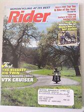 Rider Magazine Honda VTX Cruiser Yamaha Fz-1 June 2001 051117nonrh2