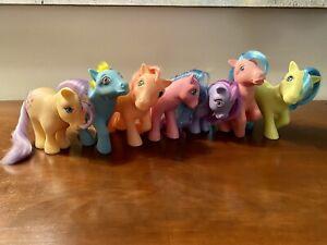 My Little Pony G1 lot vintage 7 Ponies 1980s MLP toys