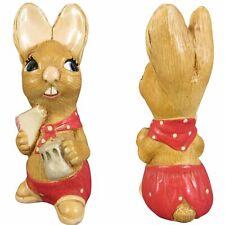 "Pendelfin Muncher Rabbit Figurine 5.25"" Hand Painted Stonecraft Burnley England"