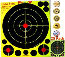 NEW 25 Pack 8 Reactive Targets Glowshot Gun Rifle Shooting Shot Glow range board