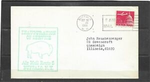1966 Inauguration First Flight Air Mail Cover Route 5, Buffalo, NY - Miami, FL
