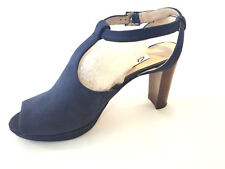 """Clarks """"Kendra Charm"""" T Strap Suede Open Toe High Heels 8Med-NWT 145.00"""