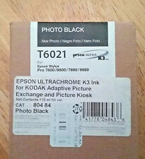 10-2016 GENUINE EPSON T6021 PHOTO BLACK 110ml INK STYLUS PRO 7800 9800 7880 9880