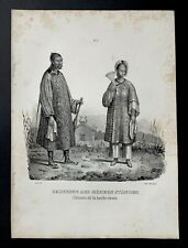 Lithographie originale, chinois de la haute classe, H. R Schinz 1845